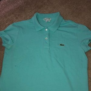 Teal Lacoste collared shirt